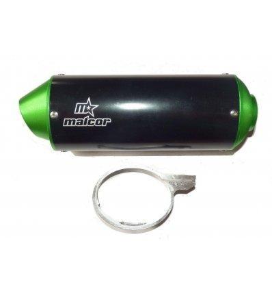 Silencioso pit bike cnc cola verde