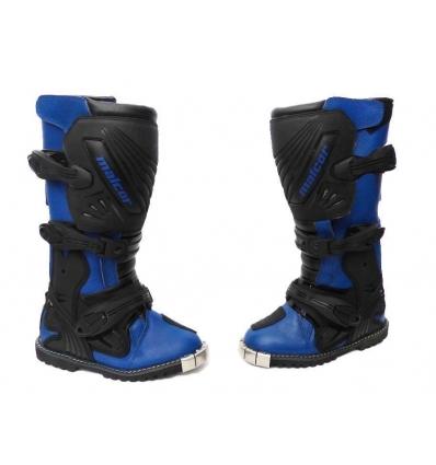 Botas de cross infantiles azul