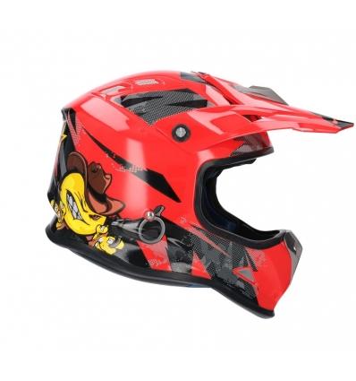 Casco shiro MALCOR MX-306 rojo
